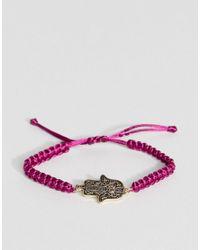 ASOS | Red Hamsa Hand Cord Friendship Bracelet | Lyst