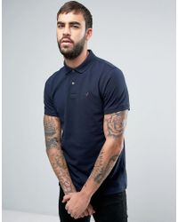 Barbour | Blue Warkworth Pique Polo Pheasant Logo Tailored Slim Fit In Navy for Men | Lyst