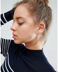 ASOS - Pink Jewel Triangle Swing Earrings - Lyst