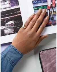 Pieces - Metallic Mathilde Cutout Ring - Lyst