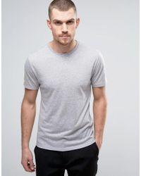 Reiss | Gray Crew Neck Marl T-shirt for Men | Lyst