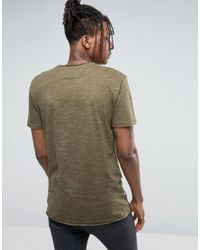 Redefined Rebel - Green T-shirt In Nep for Men - Lyst