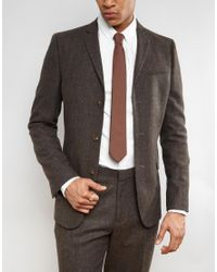 Heart & Dagger - Brown Blade Tie for Men - Lyst