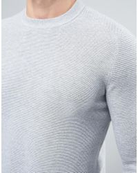 Ted Baker - Gray Textured Knit for Men - Lyst