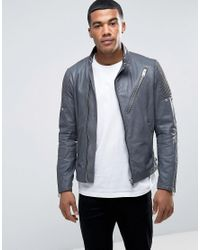 DIESEL | Black L-mackson Vintage Leather Jacket for Men | Lyst