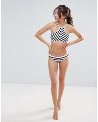 Seafolly | Black Chevron Stripe Bikini Bottoms | Lyst