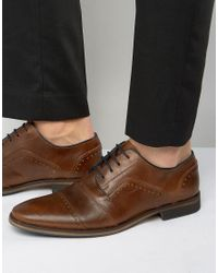 Dune | Brown Boycy Leather Derby Brogue Shoes for Men | Lyst