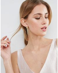 ASOS - Metallic Jelly Fish Strand Earrings - Lyst