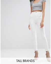 Missguided | White Vice High Waisted Ankle Grazer Super Stretch Skinny Jean | Lyst