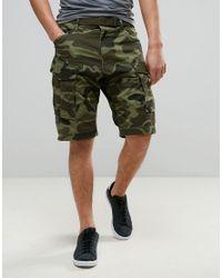G-Star RAW | Green Rovic Belt Camo Loose 1/2 Short for Men | Lyst