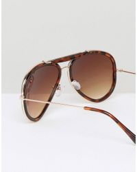 D-Struct - Brown Aviator Sunglasses In Tort for Men - Lyst