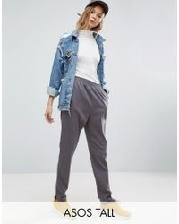ASOS | Gray Washed Tapered Peg Pants | Lyst
