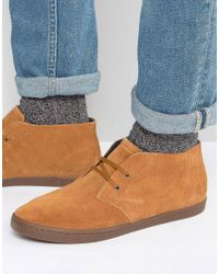Fred Perry | Brown Byron Suede Mid Chukka Boots for Men | Lyst
