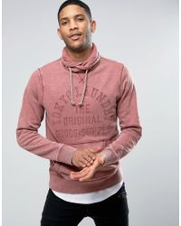 Tokyo Laundry | Red Cross Over Neck Overhead Sweat for Men | Lyst