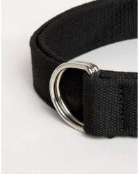 ASOS - Black D Ring Webbing Belt - Lyst