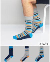 Original Penguin | Blue 3 Pack Sock Gift Set for Men | Lyst