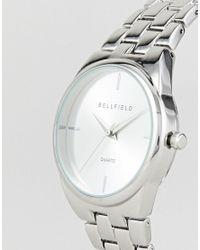 Bellfield - Metallic Silver Plated Watch for Men - Lyst