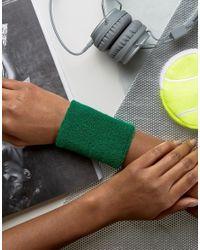 ASOS | Green Sweatband Bracelet | Lyst
