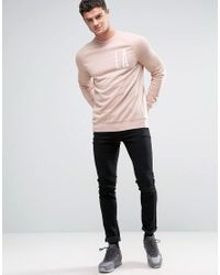 ASOS - Green Sweatshirt With La Tropical Floral Print for Men - Lyst