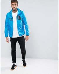 The North Face - Logo Hooded Jacket Drew Peak Windwall In Blue for Men - Lyst