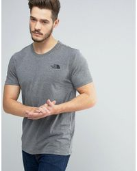 The North Face | Gray Simple Dome T-shirt In Mid Grey Heather for Men | Lyst