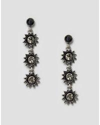 Ashiana | Metallic Statement Strand Earrings | Lyst