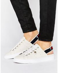 e6da666d952 Tommy Hilfiger Sling Back Logo Sneakers in White - Lyst
