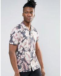 fef71f1642 Lyst - Asos Festival Regular Fit Viscose Shirt With Hawaiian Floral ...