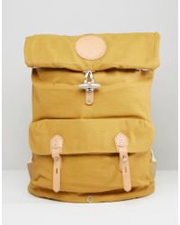 Stighlorgan   Yellow Reilly Backpack With Roll Top In Lacquered Cotton Canvas for Men   Lyst
