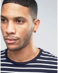ASOS - Brown Earrings In Hammered Finish - Lyst