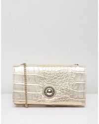 f5dabe9d1be18 Versace Jeans Moc Croc Going Out Purse Cross Body Bag in Metallic - Lyst