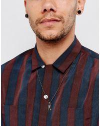 Simon Carter - Metallic Mini Key & Feather Necklace In Silver for Men - Lyst