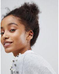 New Look - Multicolor Multi Pack Hoop Gem Ear Cuffs - Lyst