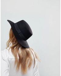 ASOS - Black Asos Easy Felt Boater Hat With Size Adjuster - Lyst
