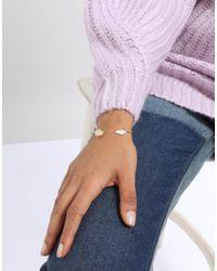 ASOS - Metallic Delicate Leaf Cuff Bracelet - Lyst