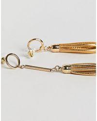 Ashiana - Metallic Loop Drop Earrings - Lyst