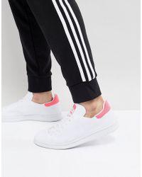 adidas originali stan smith primeknit scarpe bianche bz0115 in