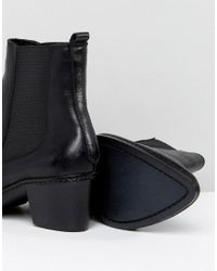 H by Hudson - Black H By Hudson Leather Ankle Boots - Lyst