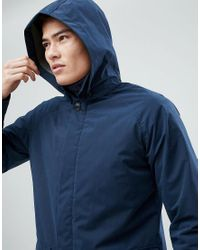 SELECTED - Blue Long Parka for Men - Lyst