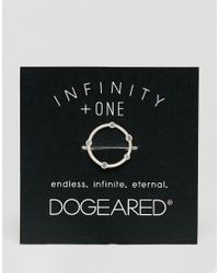 Dogeared - Metallic Sterling Silver Infinity & One Halo Circle Ring - Lyst