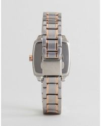 Armani Exchange - Metallic Ax5449 Square Bracelet Watch In Mixed Metal - Lyst