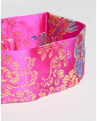 New Look - Pink Eastern Jaquard Choker - Lyst