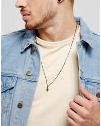 Icon Brand - Metallic Bower Necklace In Mixed Metal for Men - Lyst
