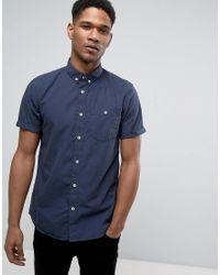 Jack & Jones | Black Originals Short Sleeve Slim Fit Shirt In Brushed Cotton for Men | Lyst