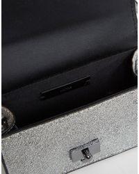 Mango - Black Metallic Box Bag - Lyst