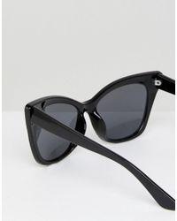ASOS - Black Basic Cat Eye Sunglasses - Lyst