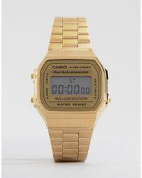 G-Shock - Metallic A168wg-9ef Gold Plated Digital Watch - Lyst