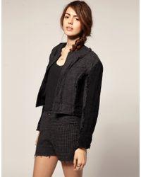 Blaak   Gray For Asos Patch Wool Cop Jacket   Lyst