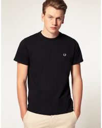 Fred Perry | T-shirt With Crew Neck In Black for Men | Lyst