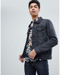 Lyst Threadbare Vintage Ripped Denim Jacket In Black For Men